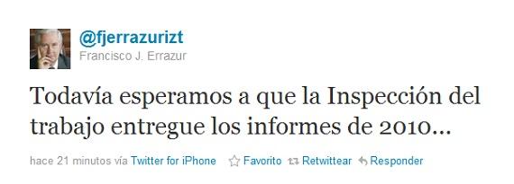 Francisco Javier Errázuriz en Twitter