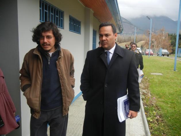 Patricio Segura y abogado Marcelo Castillo | Rodrigo Aguilera