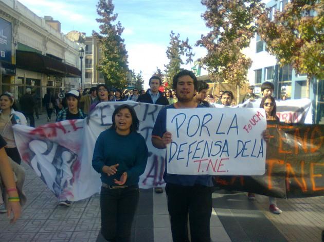 Protesta TNE | Miguel García