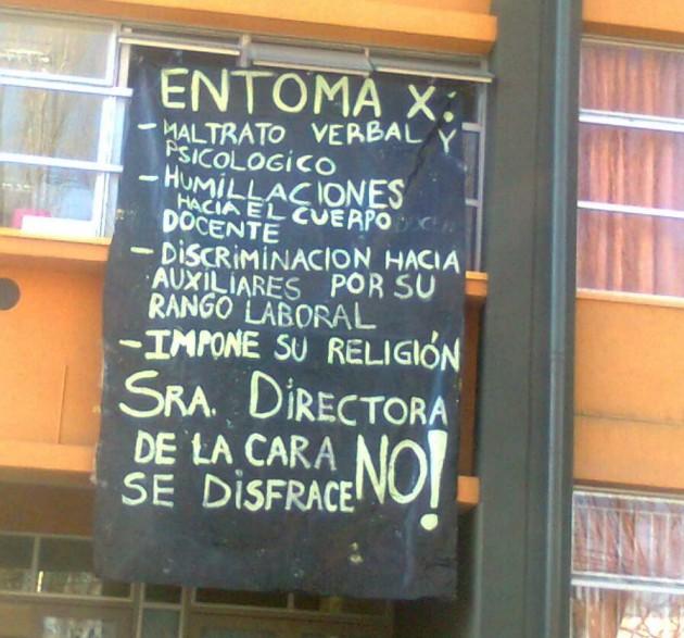 Toma escuela España | Cristián Valdebenito