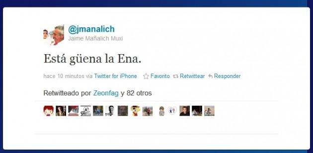 Jaime Manalich en Twitter