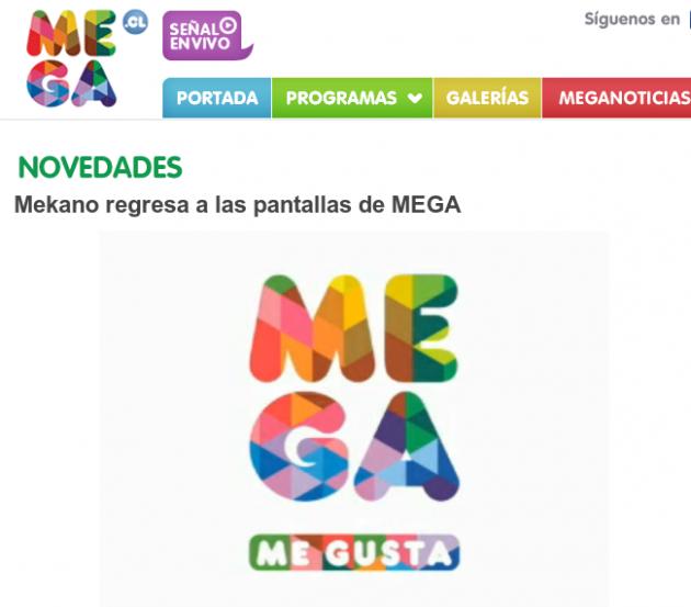 Sitio web de Mega