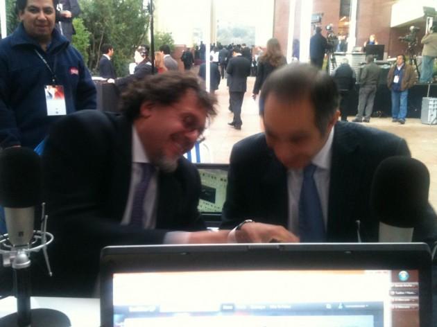Senadores Lagos Weber y Chahuán en estudio móvil de Radio Bío-Bío | Consuelo Solar