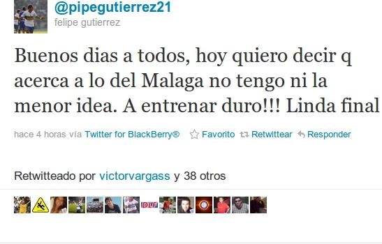 Felipe Gutiérrez en Twitter