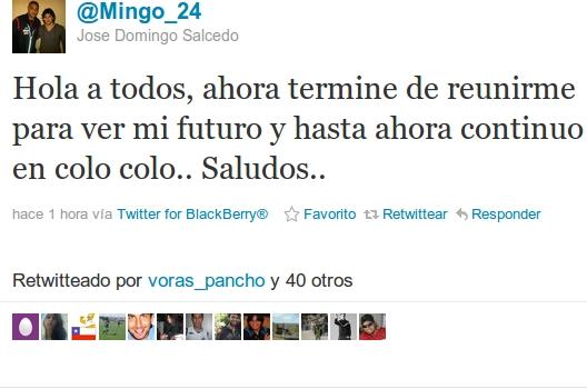 José Domingo Salcedo en Twitter