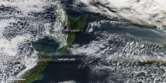 Nube de cenizas sobre Nueva Zelanda | NASA