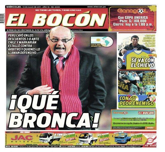 Prensa De Perú Lamenta Derrota Por Autogol Ante Chile En Copa
