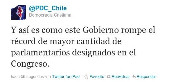 Twitter Democracia Cristiana