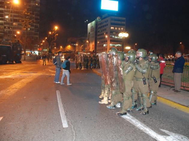 Manifestación Plaza Italia