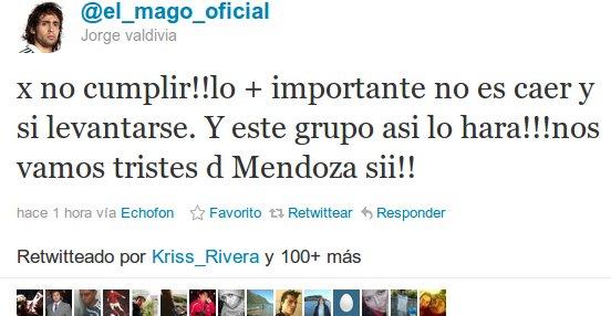 Jorge Valdivia en Twitter