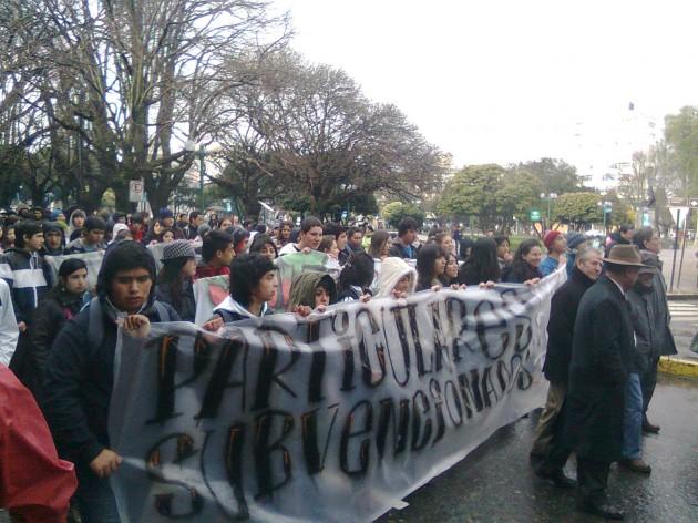 Marcha de estudiantes | José Aedo