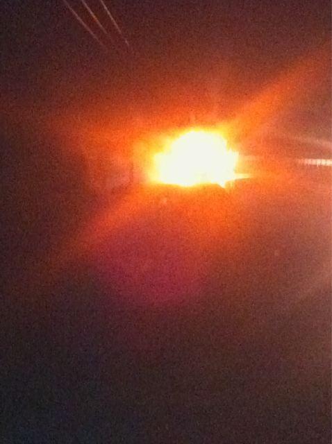 Incendio de automóvil en Ruta 5 Sur   @maauriciodiaz