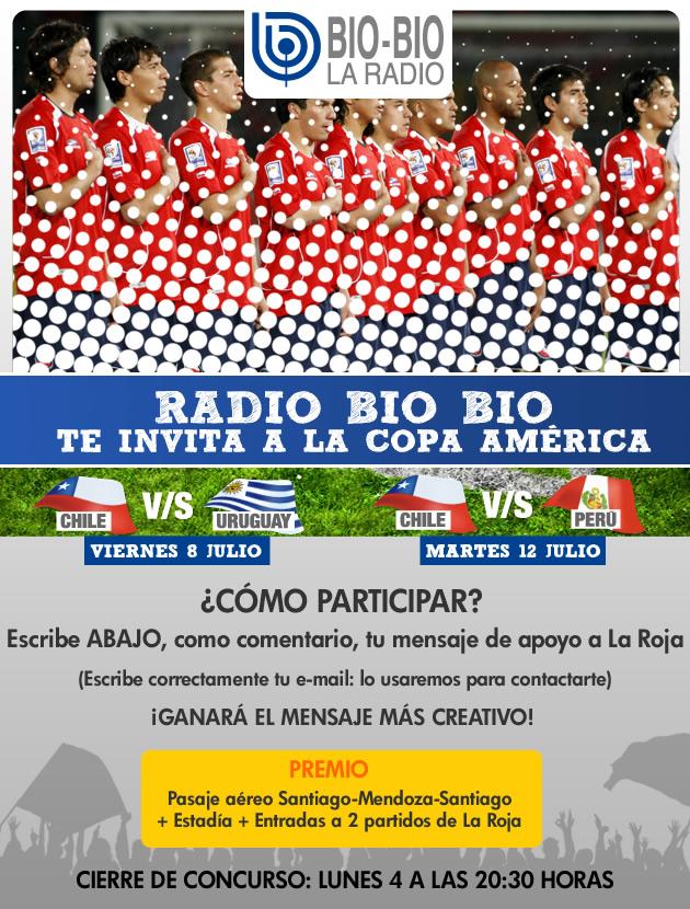 ¿Quieres viajar a alentar a La Roja a la Copa América con todos los gastos pagados?