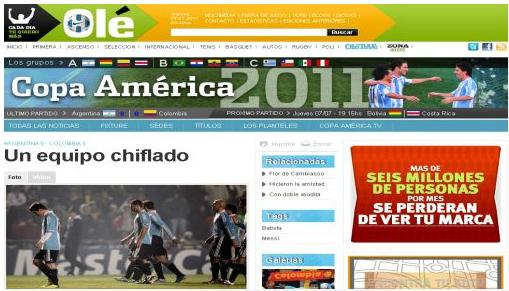 Captura de Pantalla | Ole.com.ar