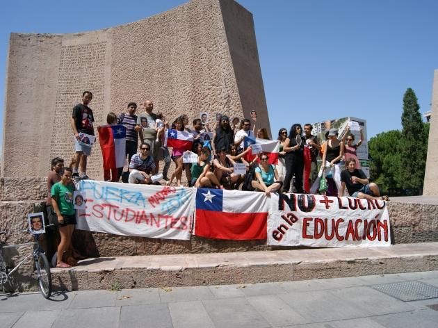 DESDE MADRID APOYO A LOS ESTUDIANTES | FERNANDO PARRAGUEZ