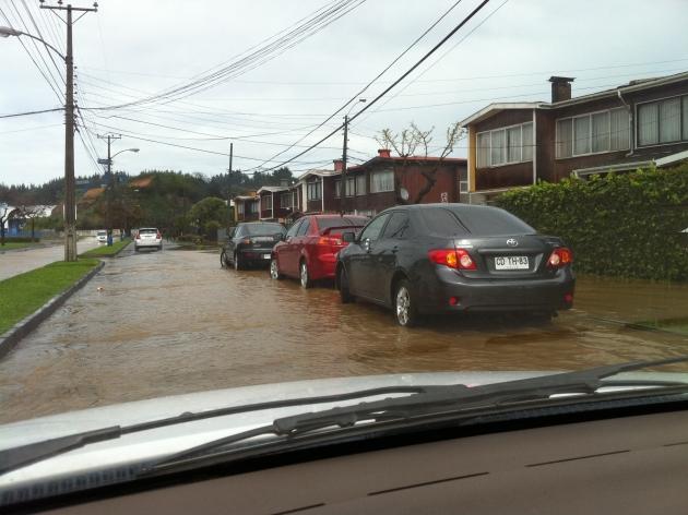 Inundación sector Estadio Huachipato   Hector Cane