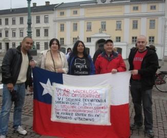 Chilenos en Gotenburgo apoyaron paro de estudiantes y la CUT