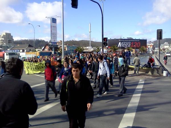 Marcha estudiantil en Concepción | Christian Leal (RBB)