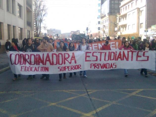 Marcha Estudiantil en Concepción | Cristián Valdebenito (RBB)