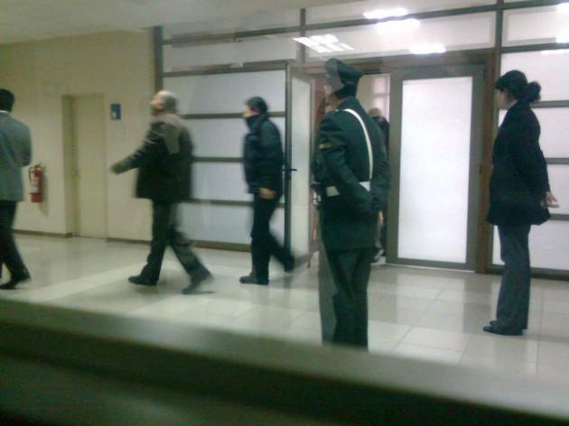 Ingreso de carabineros detenidos a Tribunal de Concepción | Pedro Cid (RBB)
