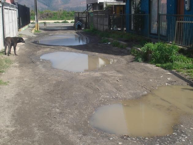 Falta de Pavimentación Pasaje Grandón | Juan Reyes Salas