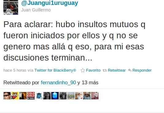 Juan Guillermo Castillo en Twitter