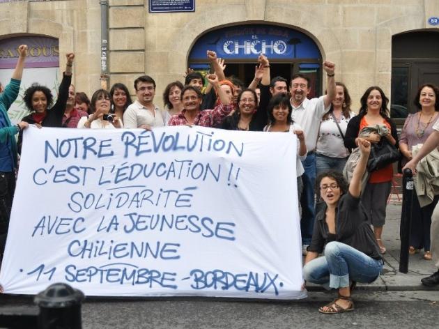 Apoyo movimiento estudiantil desde Burdeos   Johana Contreras