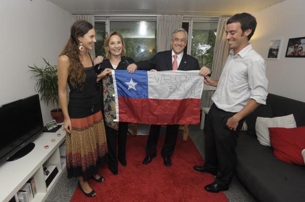 Sebastián Piñera en su antiguo departamento | www.fotopresidencia.cl