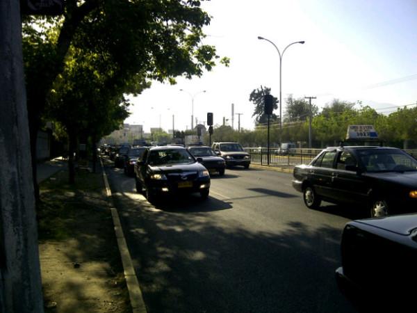 Congestión en Avenida Grecia | Mauricio Valencia en Twitter