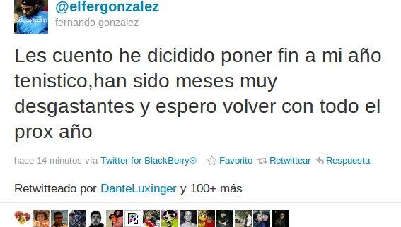 Fernando González en Twitter