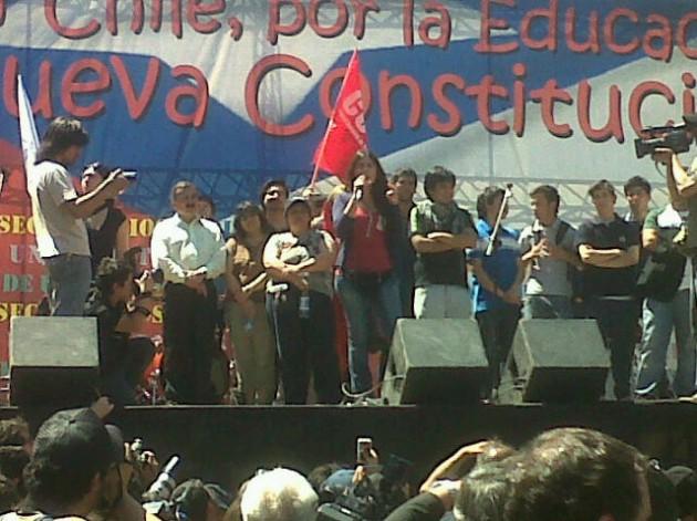 Dirigentes en acto central | Nicolás Sepúlveda (RBB)