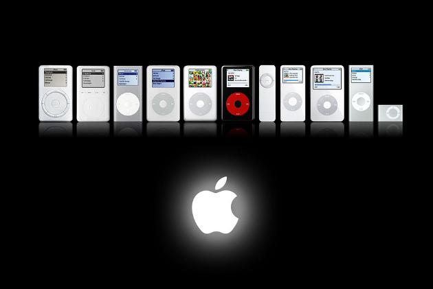 Modelos iPod a lo largo del tiempo