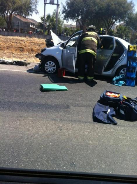 Accidente en Ruta 68 | Nico Espinoza vía Twitter