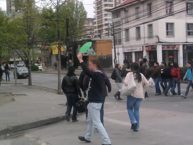 Alumnos actuando como semáforos | Cecilia