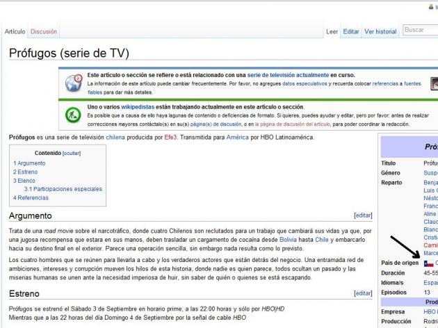 error en pagina de wikipedia