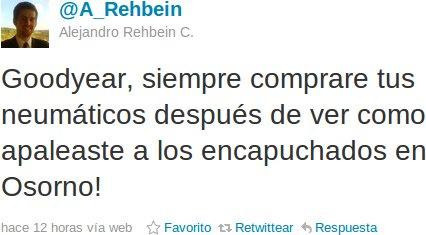 Alejandro Rehbein en Twitter