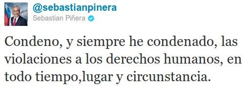 Twitter de Sebastián Piñera