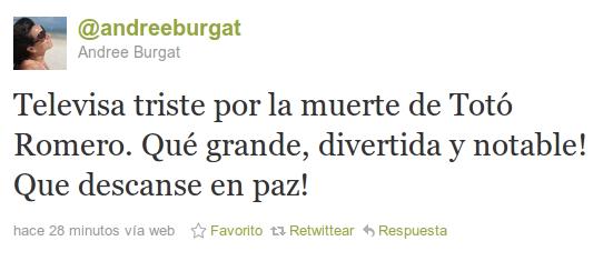 Andree Burgat en Twitter
