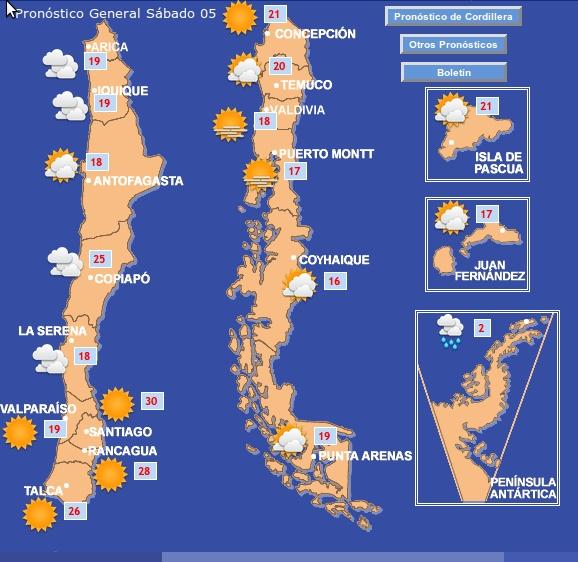 Pronóstico | Dirección Meteorológica de Chile