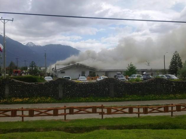 Incendio en casino de Suboficiales