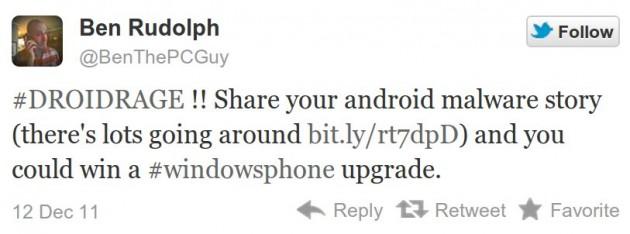 Ben Rudolph en Twitter