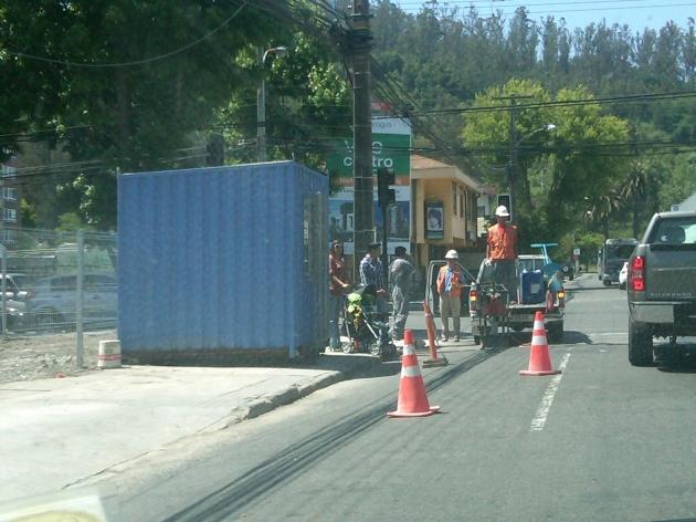Instalan caseta de guardia y baño quimico en vereda (Serrano, esquina Chacabuco Concepcion) | Rodrigo