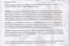 Imagen:Supuesta carta enviada por el PC.