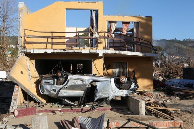 Dichato tras el paso del tsunami | USGS (CC)