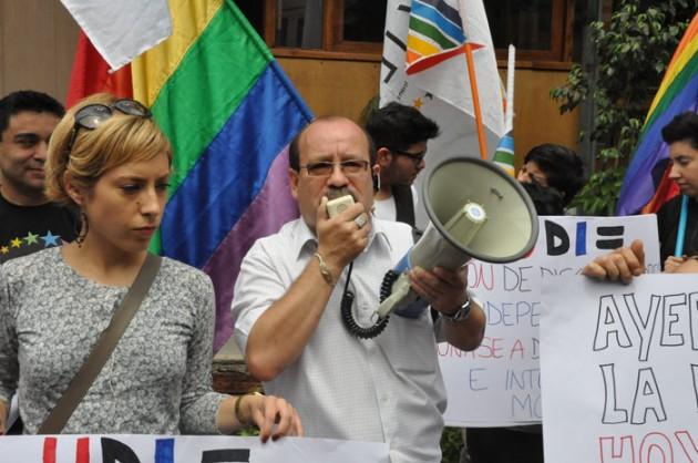 Protesta contra UDI | Movilh