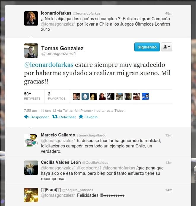 Tomás González | Twitter