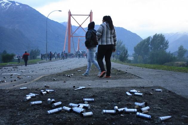 Lacrimógenas lanzadas por Carabineros | Cortesía de Ángela Rivera (c)