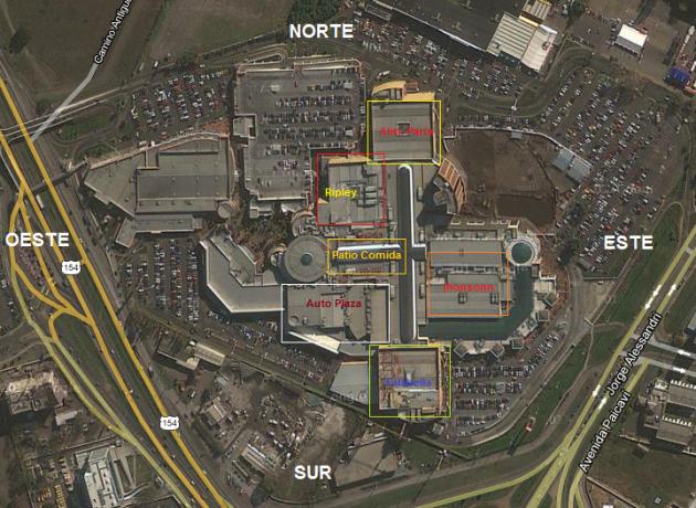 Mapa Mall Plaza del Trébol