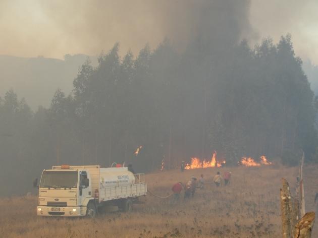 Incendio en Cobquecura | Wilson Ponce