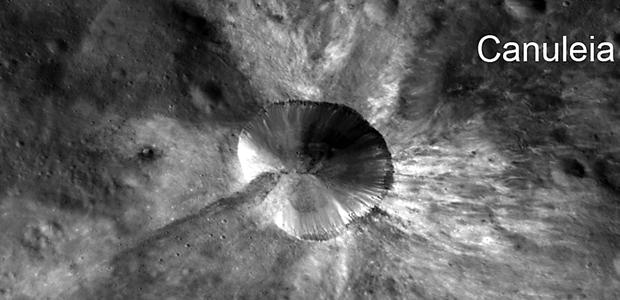 Cráter Canuleia en Vesta | NASA